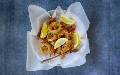 Inele de calamar prajit
